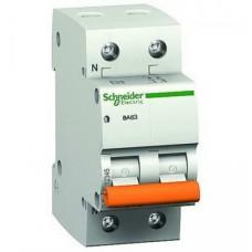 Автоматический выключатель ВА63 Домовой 2 полюса 10 ампер