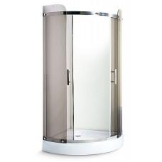 Душевая кабина Miracle 100x100 с поддоном 16 см хром чайное (TS3014-100)