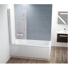 Штора для ванн Ravak CVS1 левая белый прозрачное (7QL40100Z1)