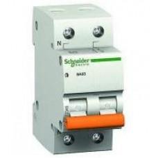 Автоматический выключатель ВА63 Домовой 2 полюса 6 ампер