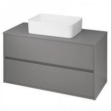 Шкафчик под умывальник Cersanit Crea 100 серый матовый со столешницей