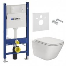 Комплект инсталляционная система Geberit Duofix (458.126.00.1) + унитаз подвесной Roca Gap Slim Rimless (A34H470000)