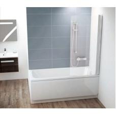 Штора для ванн Ravak CVS1 правая белый прозрачное (7QR40100Z1)